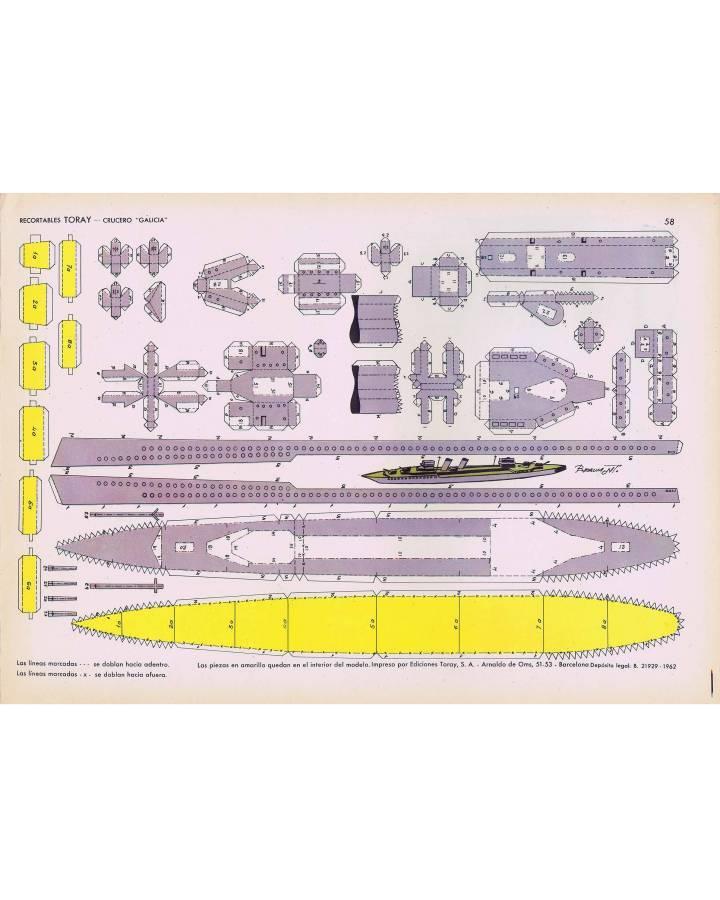 Cubierta de RECORTABLES TORAY GRUPO 15 BARCOS II 58. CRUCERO GALICIA (Beaumont) Toray 1962
