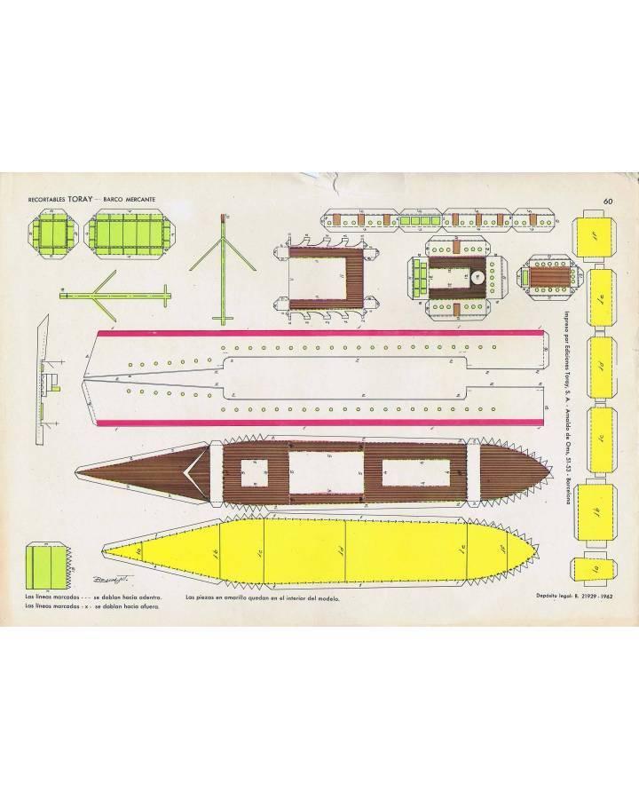 Cubierta de RECORTABLES TORAY GRUPO 15 BARCOS II 60. BARCO MERCANTE (Beaumont) Toray 1962