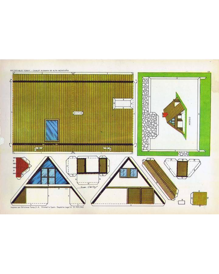 Cubierta de RECORTABLES TORAY GRUPO 18 CASAS II 121. CHALET ALEMÁN DE ALTA MONTAÑA (Beaumont) Toray 1962
