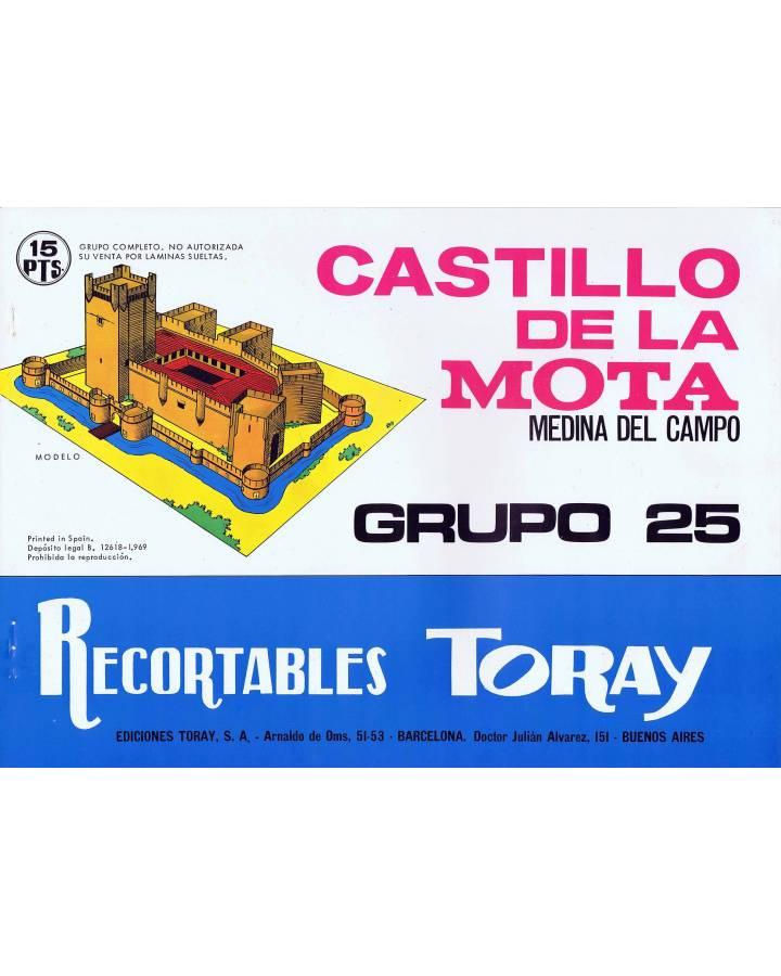 Cubierta de RECORTABLES TORAY GRUPO 25 CASTILLO DE LA MOTA MEDINA DEL CAMPO. 4 hoja (No Acreditado) Toray 1969