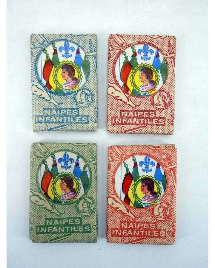 Cubierta de NAIPES INFANTILES BARAJA 55X4 cm. LÁMINAS 40 NAIPES.LOTE 4 COLORES AÑOS 50 (No Acreditado) No acreditada 195