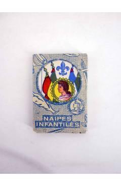 Contracubierta de NAIPES INFANTILES BARAJA 55X4 cm. LÁMINAS 40 NAIPES.LOTE 4 COLORES AÑOS 50 (No Acreditado) No acredita