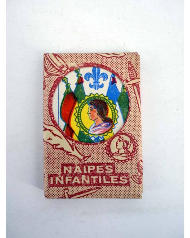 Cubierta de NAIPES INFANTILES BARAJA 55X4 cm. LÁMINA 40 NAIPES. ESTUCHE ROJO AÑOS 50 (No Acreditado) No acreditada 1950