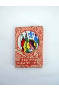 Cubierta de NAIPES INFANTILES BARAJA 55X4 cm. LÁMINA 40 NAIPES. ESTUCHE NARANJA 50'S (No Acreditado) No acreditada 1950