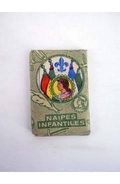 Cubierta de NAIPES INFANTILES BARAJA 55X4 cm. LÁMINA 40 NAIPES. ESTUCHE VERDE AÑOS 50 (No Acreditado) No acreditada 1950