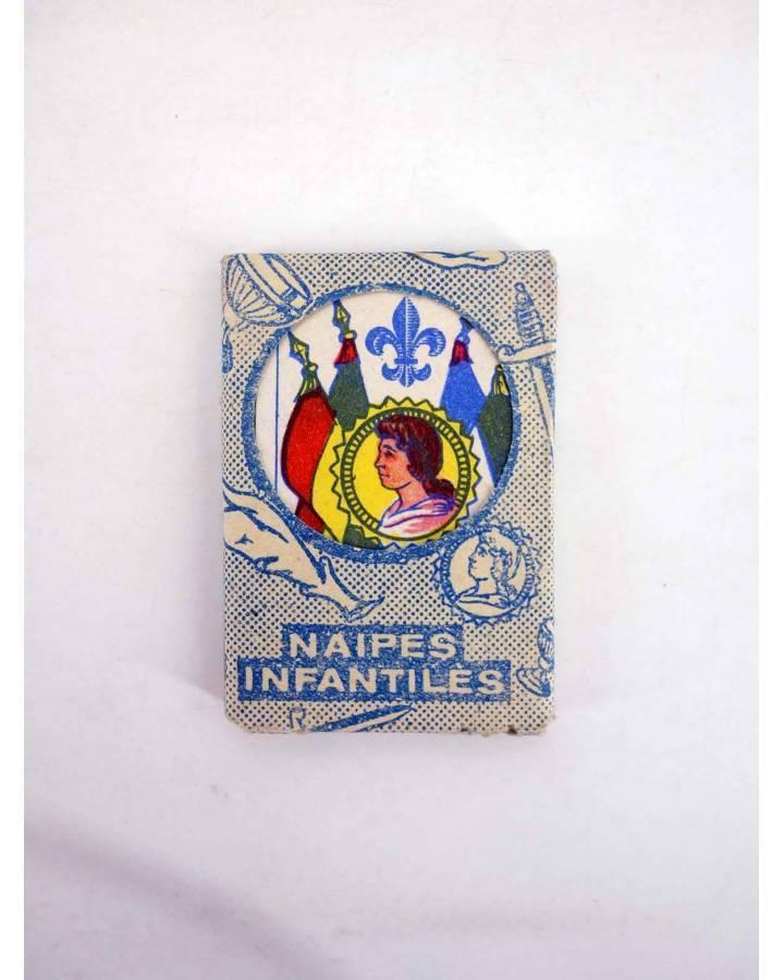 Cubierta de NAIPES INFANTILES BARAJA 55X4 cm. LÁMINA 40 NAIPES. ESTUCHE AZUL AÑOS 50 (No Acreditado) No acreditada 1950
