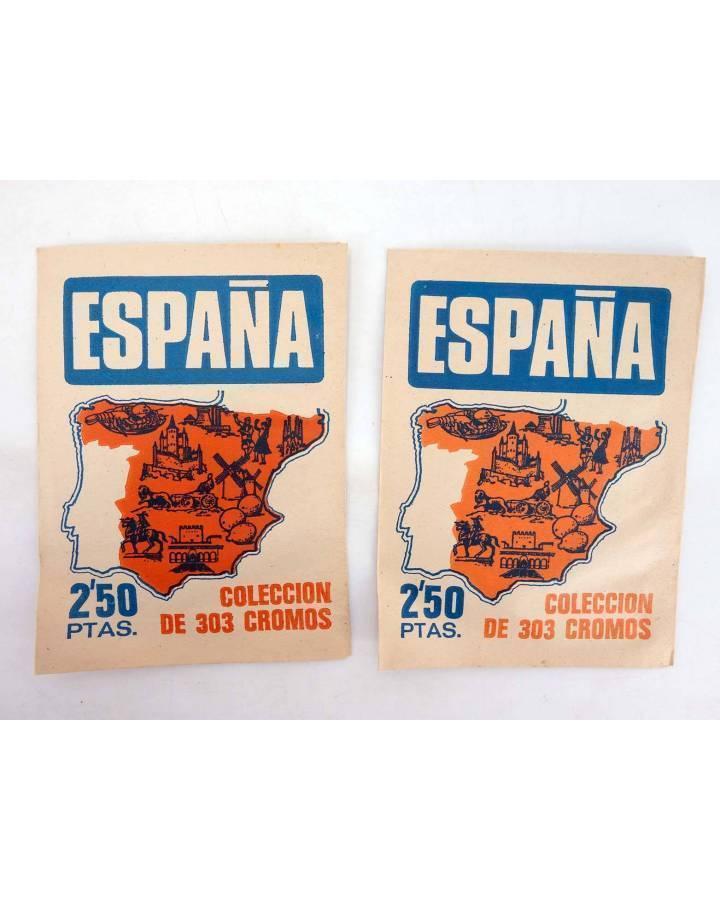 Cubierta de ESPAÑA. COLECCIÓN DE 303 CROMOS 2 PAQUETES SIN ABRIR (No Acreditado) Bruguera 1974