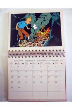 Contracubierta de TINTIN AGENDA FRANC-INGL-ALEMÁN-ESPAÑOL. ANILLAS (Hergé) Moulinsart 1997