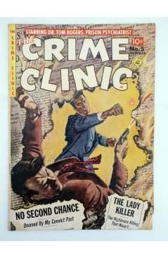 Cubierta de CRIME CLINIC 5. VG- (Vvaa) Ziff Davis 1951