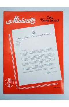 Cubierta de MINIWATT CARTA TÉCNICO COMERCIAL 1966 Nº 2. DÍPTICO. ILUSTRADO (No Acreditado) Copresa 1966