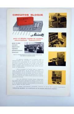 Contracubierta de MINIWATT CARTA TÉCNICO COMERCIAL 1966 Nº 2. DÍPTICO. ILUSTRADO (No Acreditado) Copresa 1966