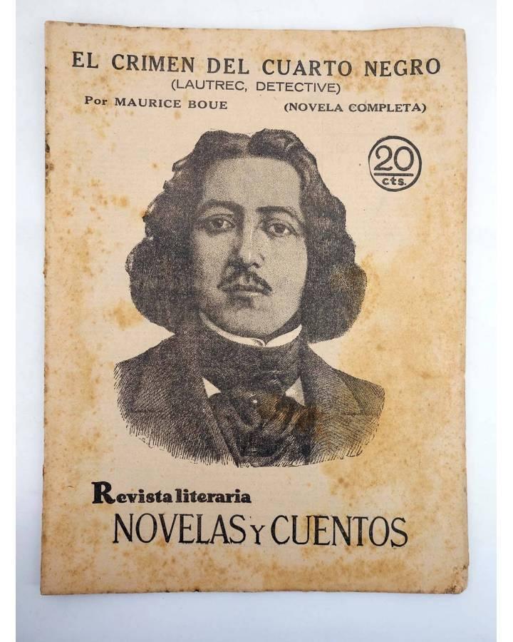 Cubierta de REVISTA LITERARIA NOVELAS Y CUENTOS 57. EL CRIMEN DEL CUARTO NEGRO (Maurice Boue) Dédalo 1930