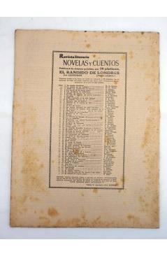 Contracubierta de REVISTA LITERARIA NOVELAS Y CUENTOS 57. EL CRIMEN DEL CUARTO NEGRO (Maurice Boue) Dédalo 1930