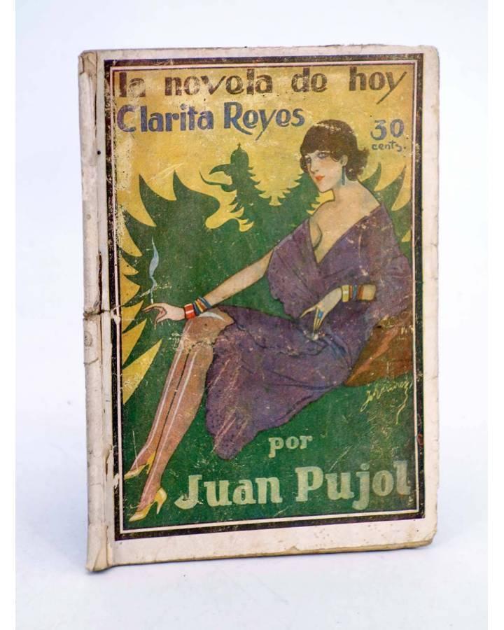Cubierta de LA NOVELA DE HOY 349. CLARITA REYES (Juan Pujol / Ramírez) Atlántida 1929