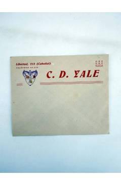 Muestra 1 de SOBRE Y HOJA CON MEMBRETE Y ESCUDO C.D. CD YALE CABAÑAL. AÑOS 30. FRV FEF FIFA (No Acreditado) CD Yale Caba