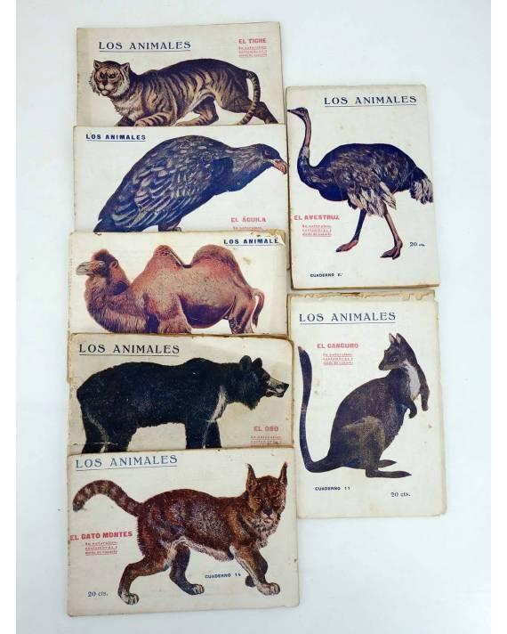 Cubierta de LOS ANIMALES 4 5 7 8 9 14. LOTE DE 7. GATO MONTÉS ÁGUILA TIGRE OSO CANGURO… (Vvaa) Prensa Popular 1919
