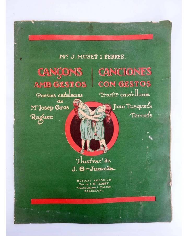 Cubierta de CANÇONS AMB GESTOS. CANCIONES CON GESTOS II. CONVITS ALS OCELLS / PAJARITOS PAJARITOS (J.G. Junceda) Musical