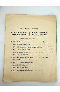 Muestra 2 de CANÇONS AMB GESTOS. CANCIONES CON GESTOS II. CONVITS ALS OCELLS / PAJARITOS PAJARITOS (J.G. Junceda) Musica