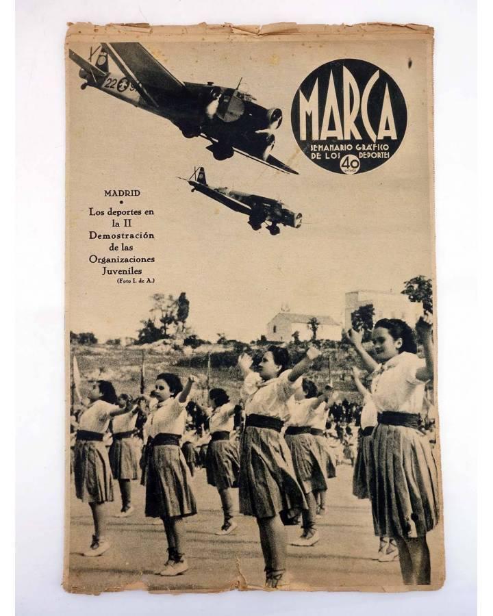 Cubierta de MARCA SEMANARIO GRÁFICO DE LOS DEPORTES 38. II DEMOSTRACIÓN ORGANIZACIONES JUVENILES. 1 NOVIEMBRE (Vvaa) Mar