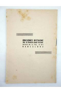 Contracubierta de CANCIONERO CARMEN MORELL Y PEPE BLANCO. ME DEBES UN BESO (Carmen Morell / Pepe Blanco) Bistagne 1950