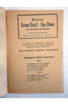 Muestra 1 de CANCIONERO CARMEN MORELL Y PEPE BLANCO. ME DEBES UN BESO (Carmen Morell / Pepe Blanco) Bistagne 1950