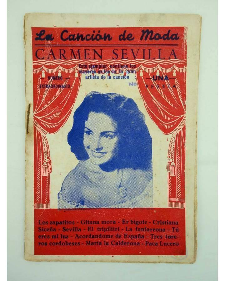 Cubierta de CANCIONERO LA CANCIÓN DE MODA N.º EXTRAORDINARIO. CARMEN SEVILLA MOD 2 (Carmen Sevilla) Patrióticas 1950