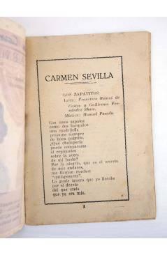 Muestra 1 de CANCIONERO LA CANCIÓN DE MODA N.º EXTRAORDINARIO. CARMEN SEVILLA MOD 2 (Carmen Sevilla) Patrióticas 1950