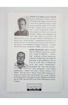 Muestra 1 de BIBLIOTECA TEATRAL 29. DOS AUTORS DOS OBRES I (J Navarro Salvador / J F Boix Yuste) 2003