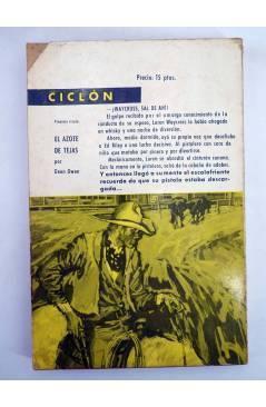 Contracubierta de COLECCIÓN CICLÓN 9. NIÑO (Clay Fisher) Toray 1963