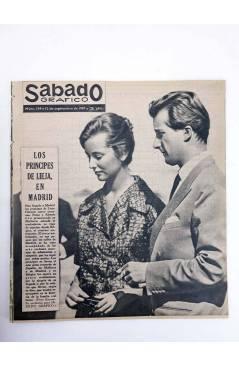 Cubierta de SÁBADO GRÁFICO 154. LOS PRINCIPES DE LIEJA EN MADRID. 12/9/1959 (Vvaa) Sábado Gráfico 1959