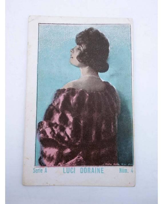 Cubierta de FOTOCROMOS ARTISTAS DE CINE SERIE A N.º 4. LUCY DORAINE (No Acreditado) Chocolates Guillén 1930
