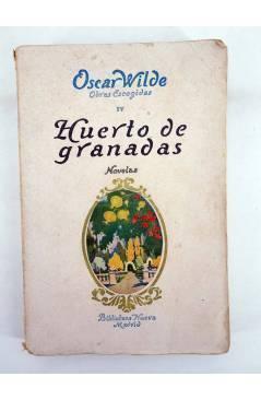 Contracubierta de OBRAS ESCOGIDAS IV. HUERTO DE GRANADAS (Oscar Wilde) Biblioteca Nueva 1932