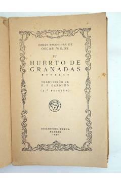 Muestra 2 de OBRAS ESCOGIDAS IV. HUERTO DE GRANADAS (Oscar Wilde) Biblioteca Nueva 1932