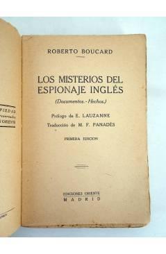 Muestra 3 de LOS SECRETOS DEL ESPIONAJE INGLES (Robert Boucard) Oriente 1930