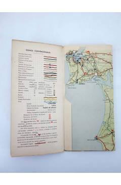 Contracubierta de MAPA FIRESTONE HISPANIA 14. LISBOA SETUBAL EVORA BEJA FARO HUELVA SEVILLA. 3ª ED (No Acreditado) Fires