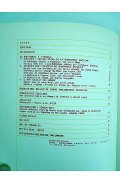 Contracubierta de REVISTA PERSPECTIVA ESCOLAR 22. LA BIBLIOTECA A L'ESCOLA (Vvaa) Rosa Sensat 1978