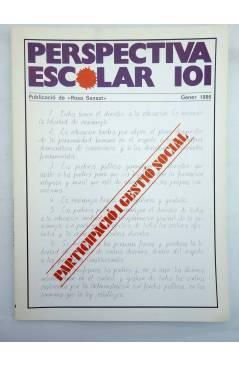 Cubierta de REVISTA PERSPECTIVA ESCOLAR 101. PARTICIPACIÓ I GESTIÓ SOCIAL (Vvaa) Rosa Sensat 1986