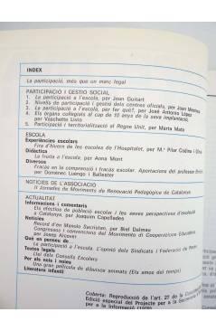 Contracubierta de REVISTA PERSPECTIVA ESCOLAR 101. PARTICIPACIÓ I GESTIÓ SOCIAL (Vvaa) Rosa Sensat 1986