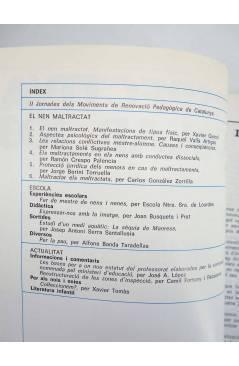 Contracubierta de REVISTA PERSPECTIVA ESCOLAR 103. EL NEN MALTRACTAT (Vvaa) Rosa Sensat 1986
