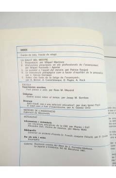 Contracubierta de REVISTA PERSPECTIVA ESCOLAR 108. LA SALUT DEL MESTRE (Vvaa) Rosa Sensat 1986