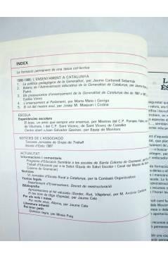 Contracubierta de REVISTA PERSPECTIVA ESCOLAR 114. 1980 1986 L'ENSENYAMENT A CATALUNYA (Vvaa) Rosa Sensat 1987