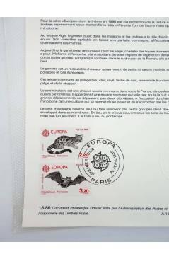 Contracubierta de COLLECTION HISTORIQUE DE TIMBRE 18-86. EUROPE 1986. PROTECTION DE LA NATURE: MAMMIFÈRES 1986 (No Acred