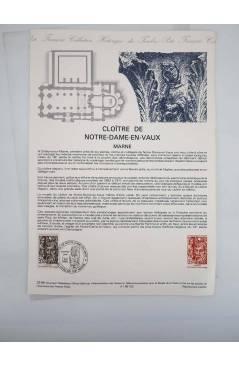 Cubierta de COLLECTION HISTORIQUE DE TIMBRE 22-86. CLOÏTRE DE NOTRE DAME EN VAUX MARNE (No Acreditado) Poste Français 19
