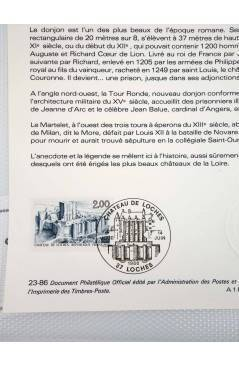 Contracubierta de COLLECTION HISTORIQUE DE TIMBRE 23-86. CHATEAU DE LOCHES (No Acreditado) Poste Français 1986