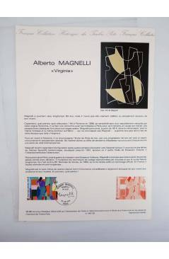 Cubierta de COLLECTION HISTORIQUE DE TIMBRE 25-86. ALBERTO MAGNELLI VIRGINIA (No Acreditado) Poste Français 1986