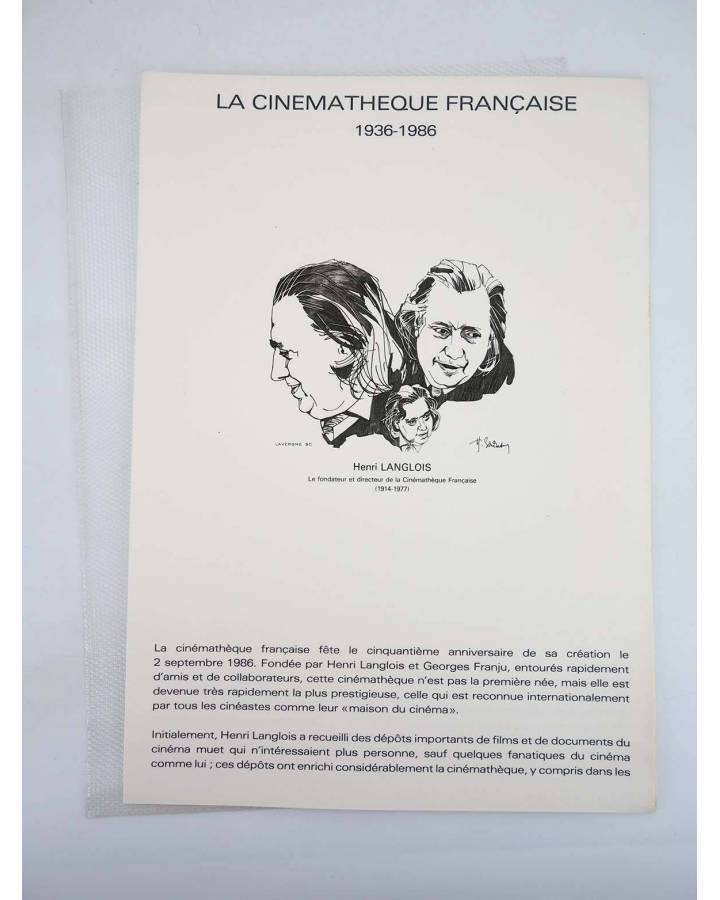 Cubierta de COLLECTION HISTORIQUE DE TIMBRE 34-86. CINQUANTENAIRE DE LA CINEMATHEQUE FRANÇAISE 1986 (No Acreditado) 1986
