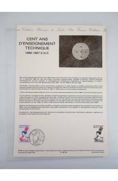 Cubierta de COLLECTION HISTORIQUE DE TIMBRE 36-86. CENT ANS D'ENSEIGNAMENT TECHNIQUE (No Acreditado) Poste Français 1986