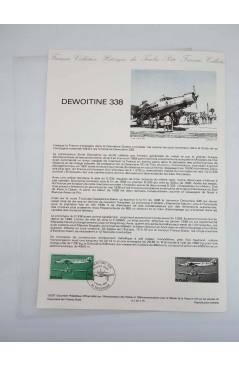Cubierta de COLLECTION HISTORIQUE DE TIMBRE 15-87. DEWOITINE 338 (No Acreditado) Poste Français 1987