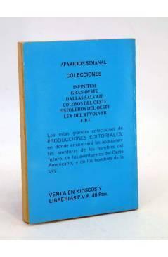 Contracubierta de FBI FEDERAL BUREAU INVESTIGATION 303. EL PRECIO DEL TERROR (John Talbot) Producciones Editoriales 1981