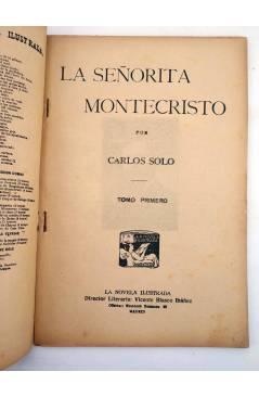 Muestra 1 de LA NOVELA ILUSTRADA II ÉPOCA 170 171 172. LA SEÑORITA DE MONTE CRISTO COMPLETA 3 VOLS (Carlos Solo) 1920